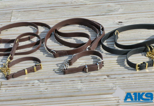 A1K9 Custom made training leads and collars